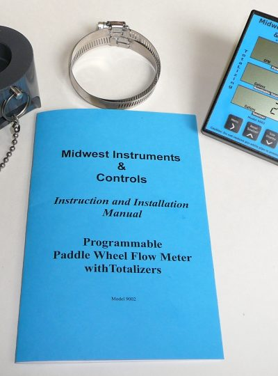 Flow Meter with Strap-On adapter for 2″ schedule 40 pipe