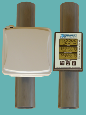2″ schedule 80 Pipe Mounted Flow Meter