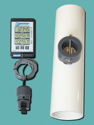 "3"" Schedule 40 Flow Meter with Remote Display"