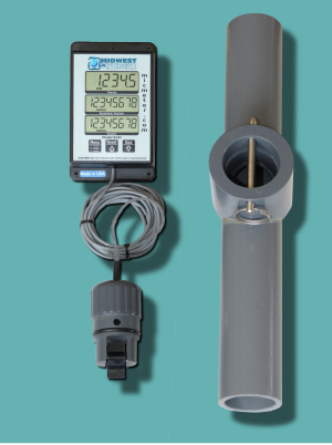 "1.5"" Schedule 80 Remote Display Flow Meter"