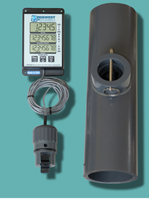 "3"" Schedule 80 Flow Meter with Remote Display"