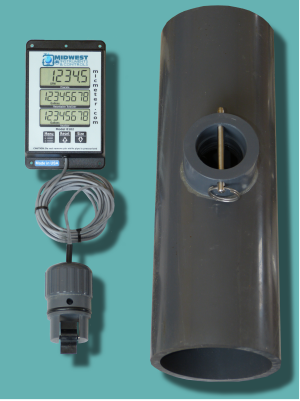 "4"" Schedule 80 Flow Meter with Remote Display"
